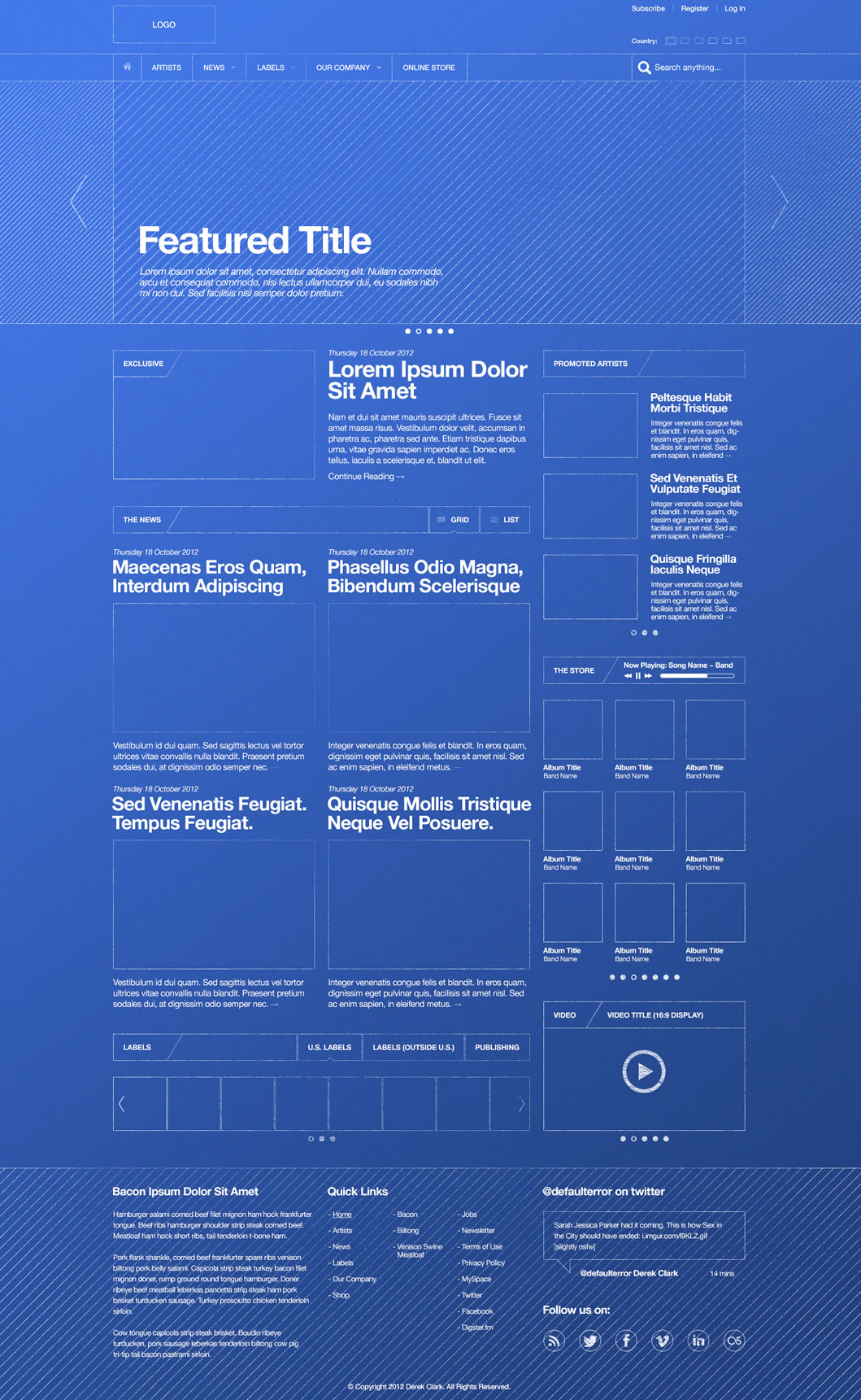 Wireframes magazine wireframe for Blueprint websites