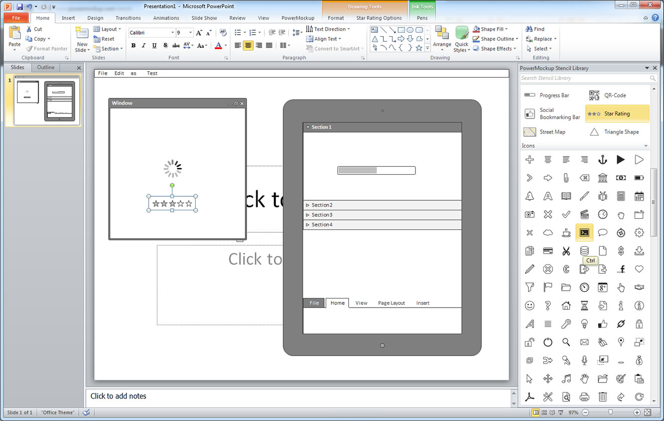 powerpoint wireframe template for ui design powerpoint wireframe template ui design gallery