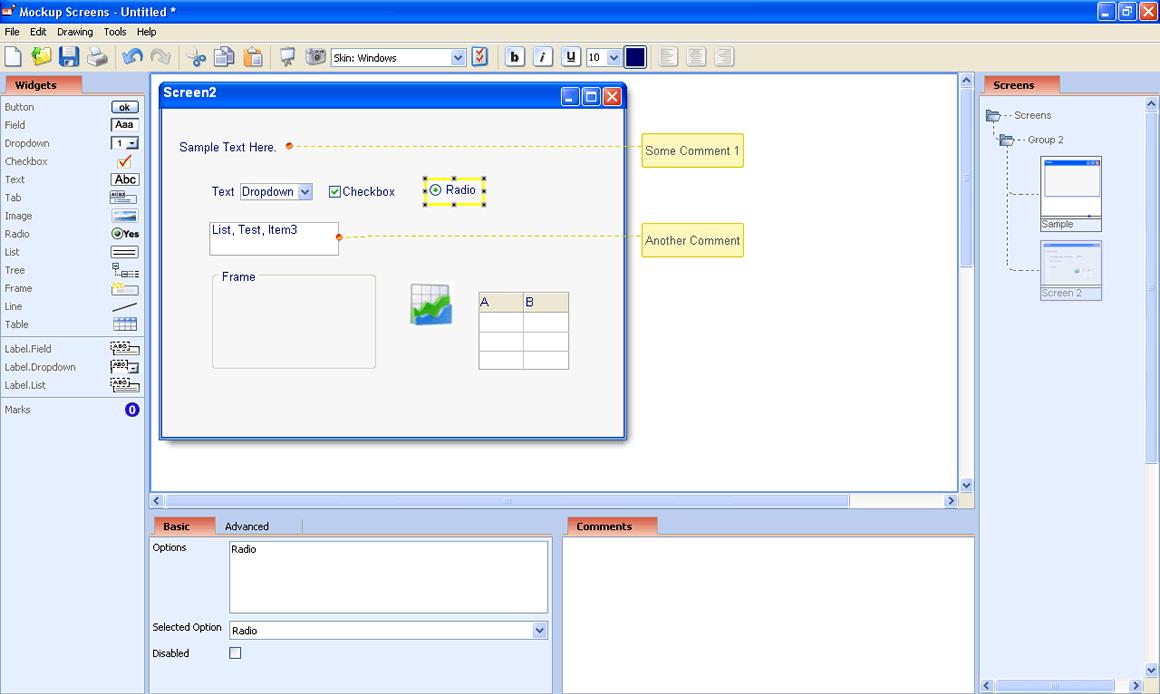 Mockup Screens versão 4.0