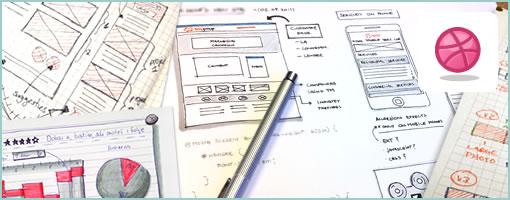 Dribbble UI Sketching Designers